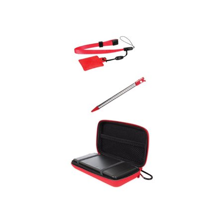 dreamGEAR 4 in 1 Case Pack - Accessory kit - red - for Nintendo 3DS