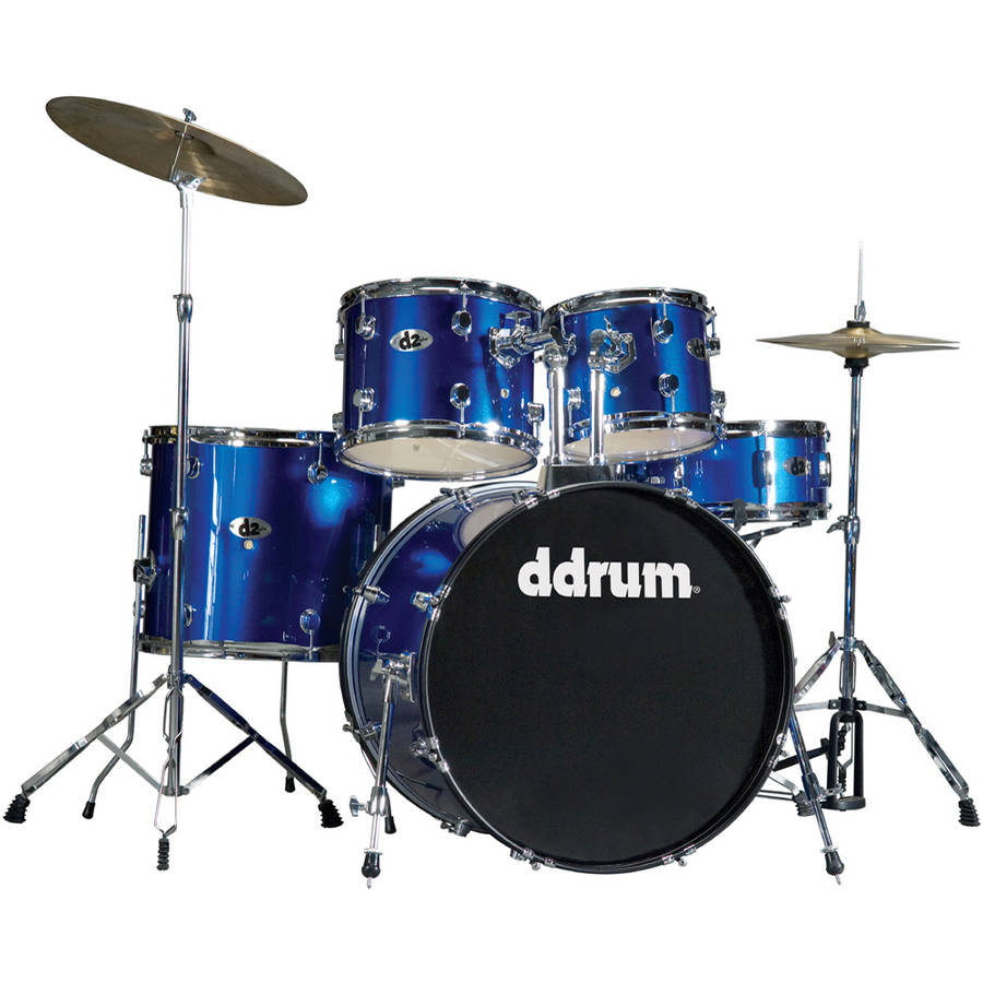 ddrum D2 Drum Set, 5-Piece, Police Blue by ddrum