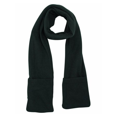 Unisex Fleece Scarf (Black Heated Fleece Unisex Winter Scarf With)