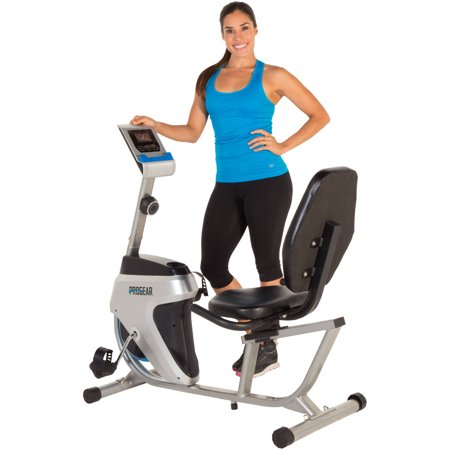 PROGEAR 555LXT Magnetic Tension Recumbent Exercise Bike with Workout Goal Setting Computer ()