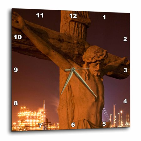 3dRose Louisiana, Baton Rouge, Statue of Jesus Christ - US19 PSO0003 - Paul Souders - Wall Clock, 10 by 10-inch Paul Decorative Products 22 Inch