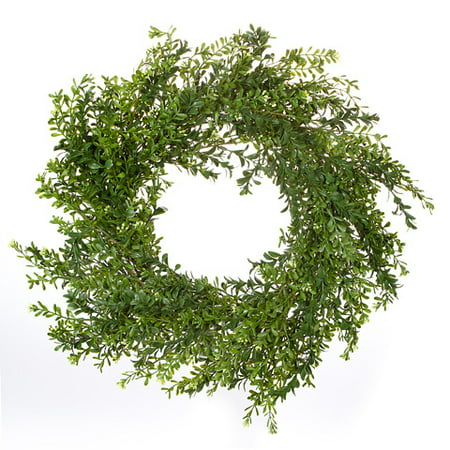Fake Boxwood Wreath (Boxwood Wreath: Green, 24)