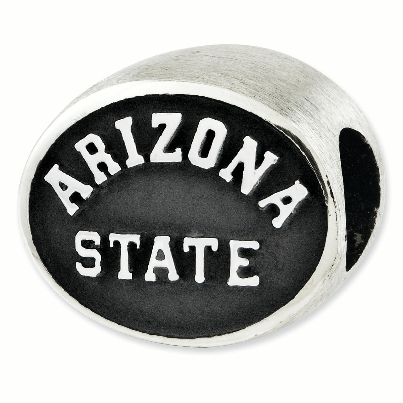 Sterling Silver Antiqued Arizona State University Collegiate Bead QRS2026