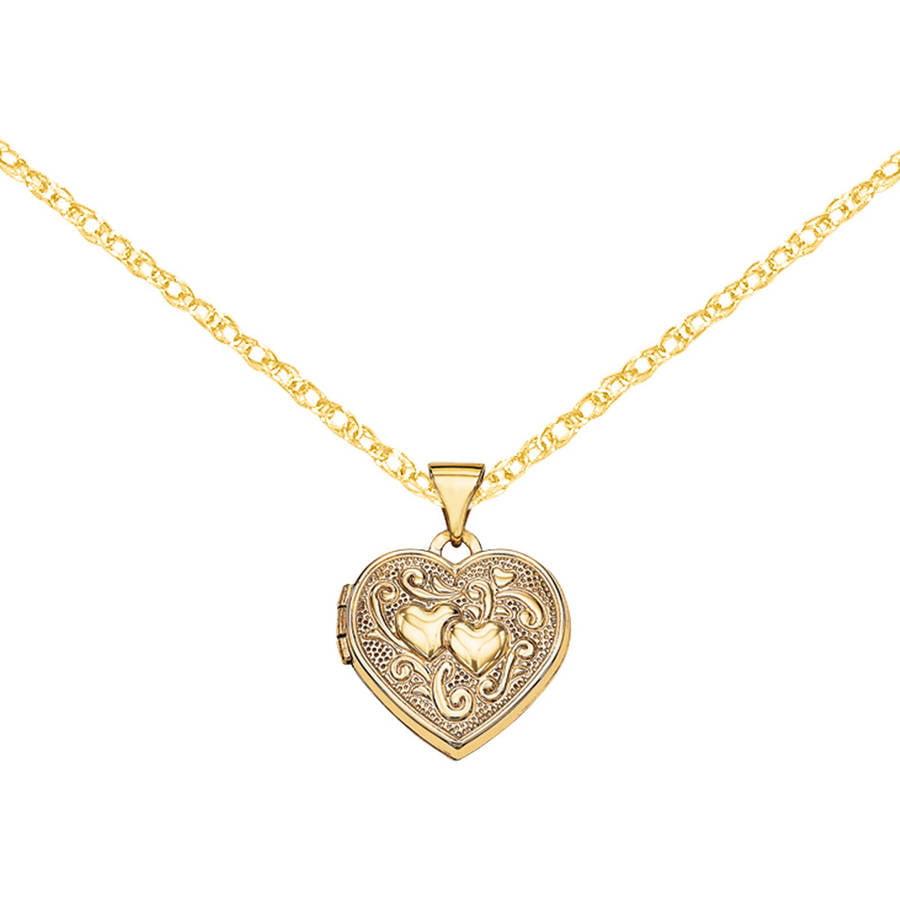 14kt Gold Heart Locket by Generic