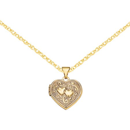 14kt Gold Heart Locket 14k Gold Heart Shaped Locket