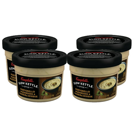 (3 Pack) Campbell's Slow Kettle Style Portobello Mushroom & Madeira Bisque, 15.3 oz. Tub