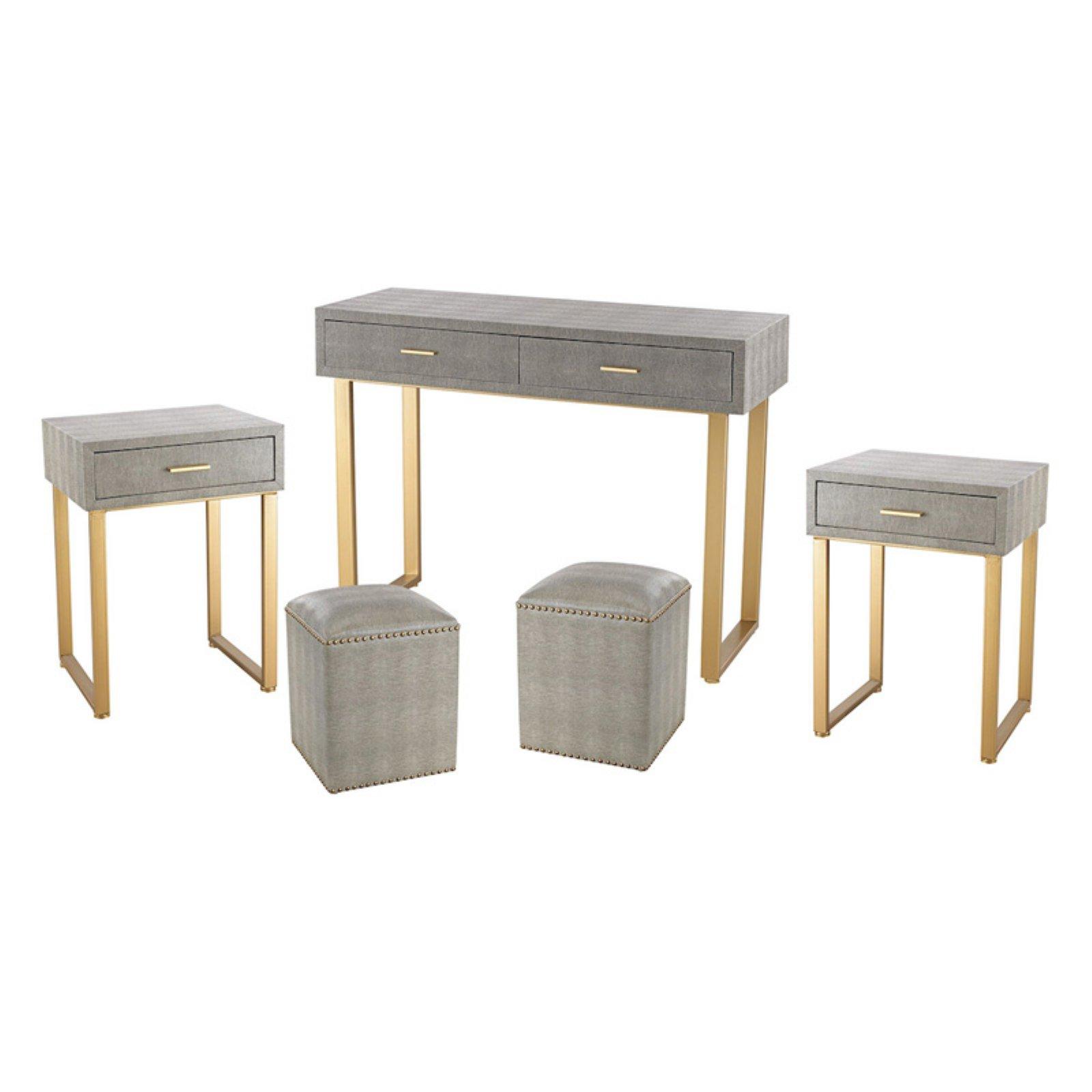 ELK Lighting Beaufort Point 5 Piece Bedroom Vanity Furniture Set by Sterling