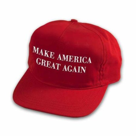 Make America Great Again Red Cap Hat, adjustable back, great fit 100% cotton BY EHM (Aquamarine Hat)