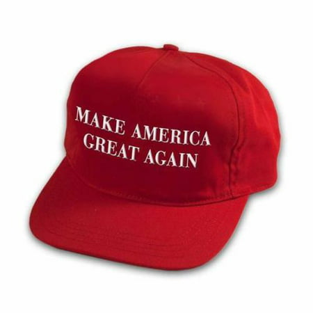 - Make America Great Again Red Cap Hat, adjustable back, great fit 100% cotton BY EHM