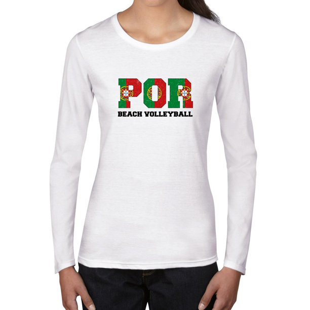 Portugal Beach Volleyball - Olympic Games - Rio - Flag Women's Long Sleeve T-Shirt