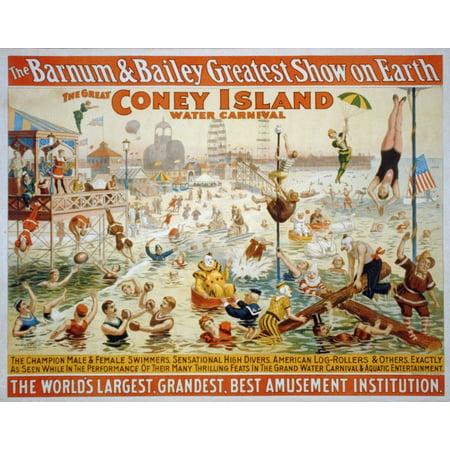 Barnum And BaileyS Great Coney Island Water Carnival At Coney Island - Coney Island Postcard