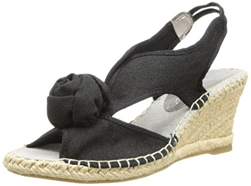 Bella Vita Women's Bella Vita Judie Wedge Sandal,Black,9.5 W US by Bella Vita