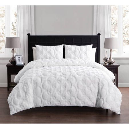 VCNY Home Atoll Circular Embossed 2/3 Piece Bedding Duvet Cover Set with Shams, Multiple Colors and Sizes Available ()