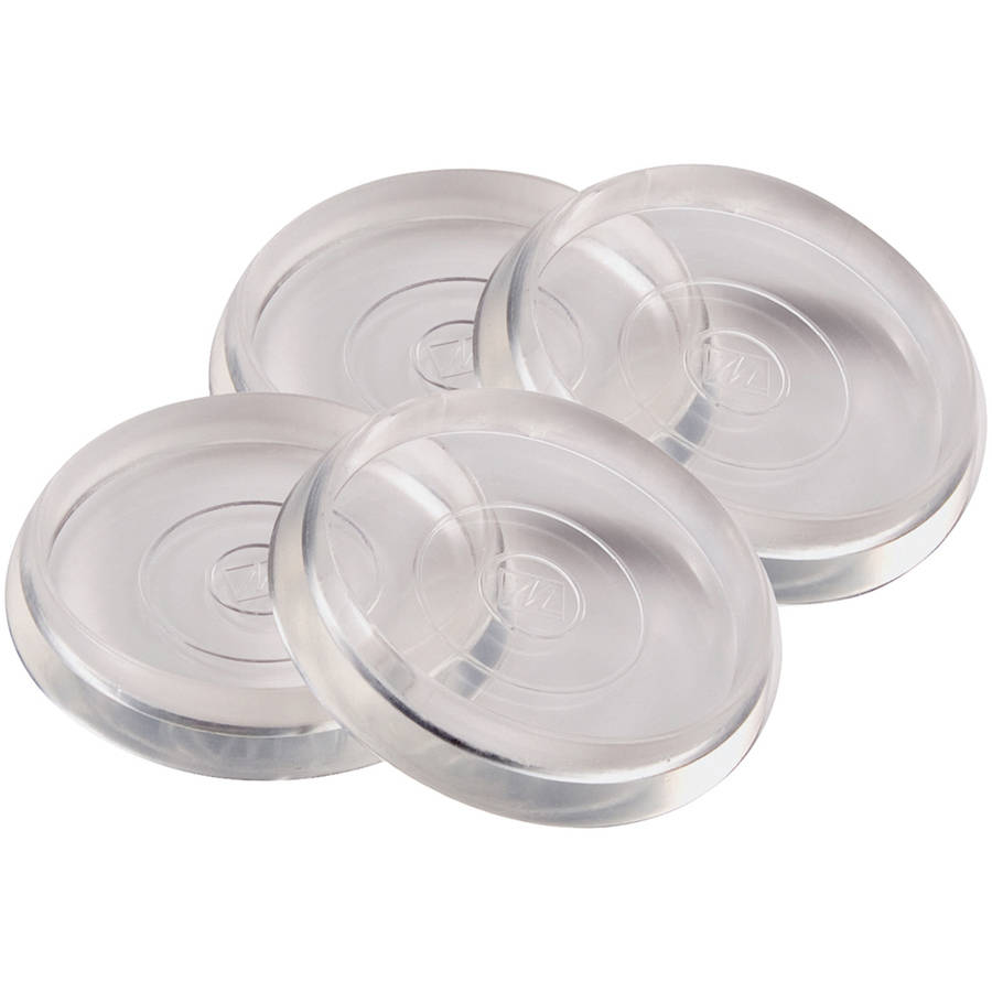 "Waxman Consumer Group 4679295N 1-3/8"" Clear Round Caster Cups, 4 Count"