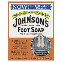 Johnson's Foot Soap Quick Dissolving Powder, 4 Oz.
