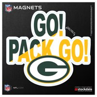 "Green Bay Packers 6"" x 6"" Xpression Logo Full Color Car Magnet - No Size"
