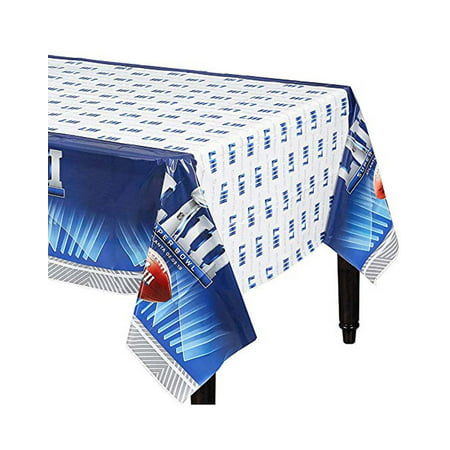 Super Bowl LIII 2019 Football Championship Party Rectangle Plastic Table Cover](Superbowl Decorations)