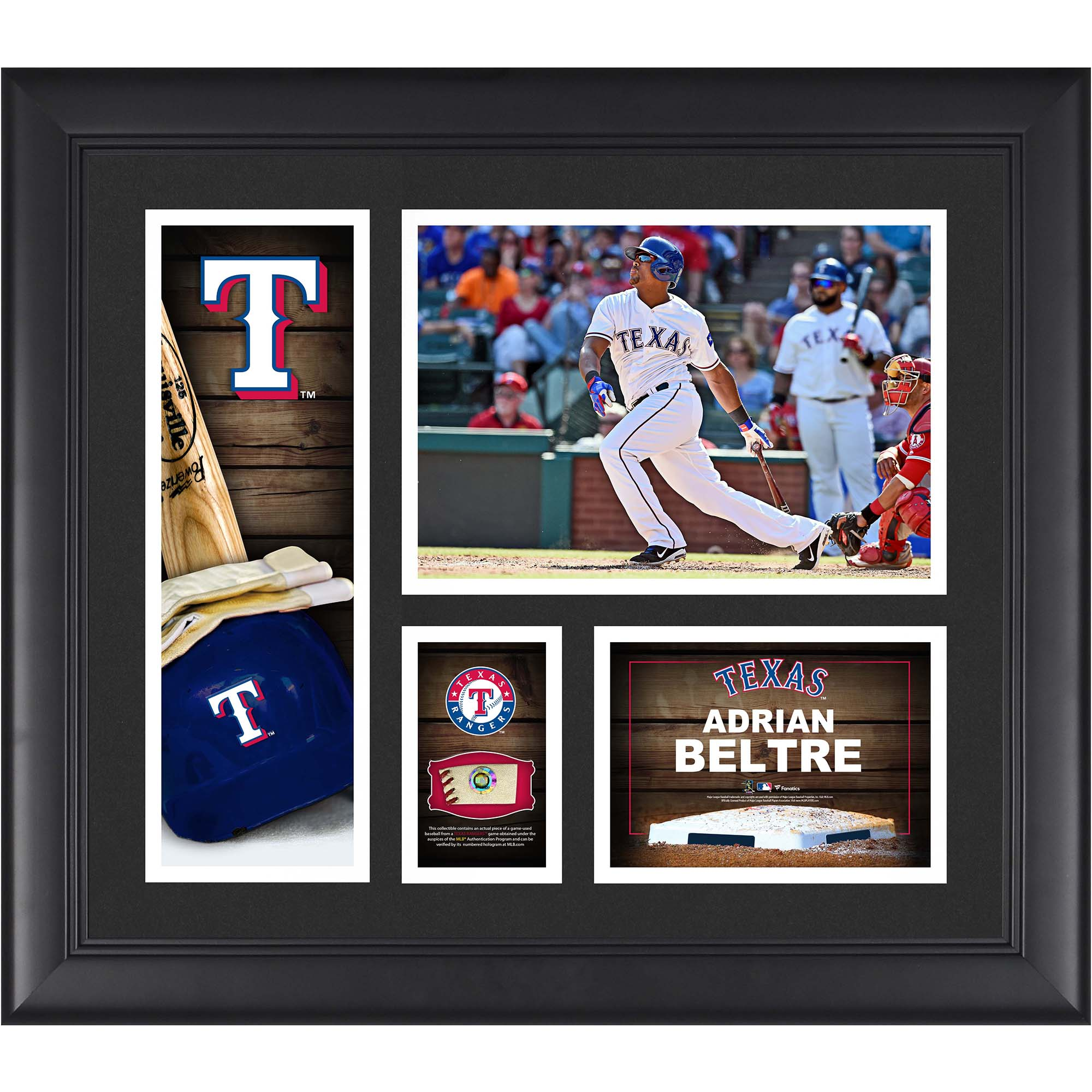 "Adrian Beltre Texas Rangers Framed 15"" x 17"" Player Collage with a Piece of Game-Used Ball"