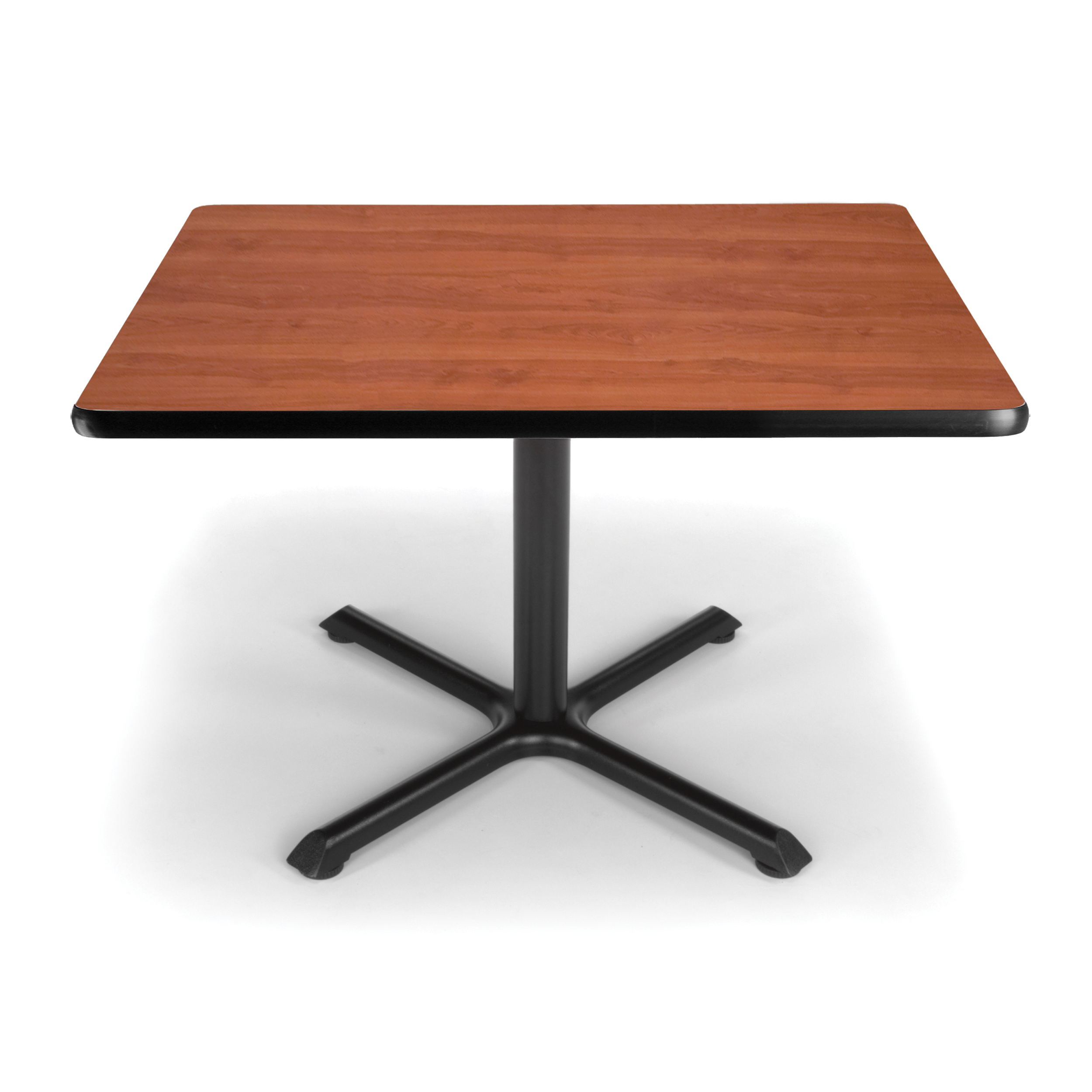 "60 Inch Square Pedestal Table: OFM Model XT36SQ 36"" Multi-Purpose Square Table With X-Style Pedestal Base, Cherry"