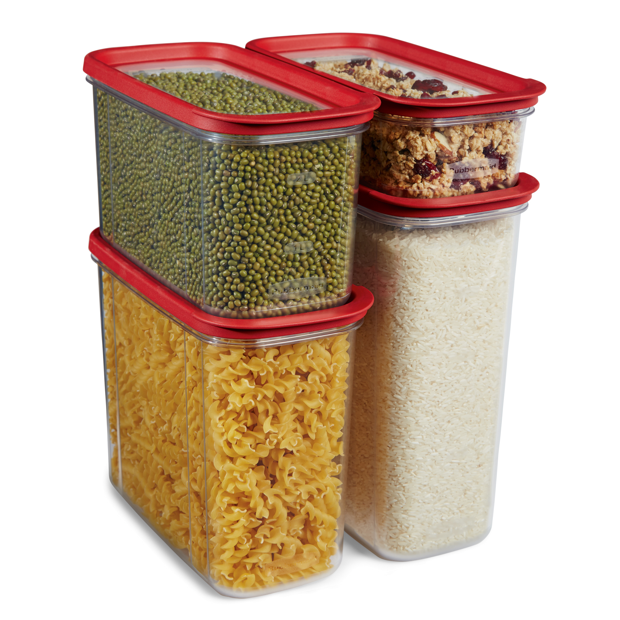 Rubbermaid Modular Plastic Canisters Premium Food Storage