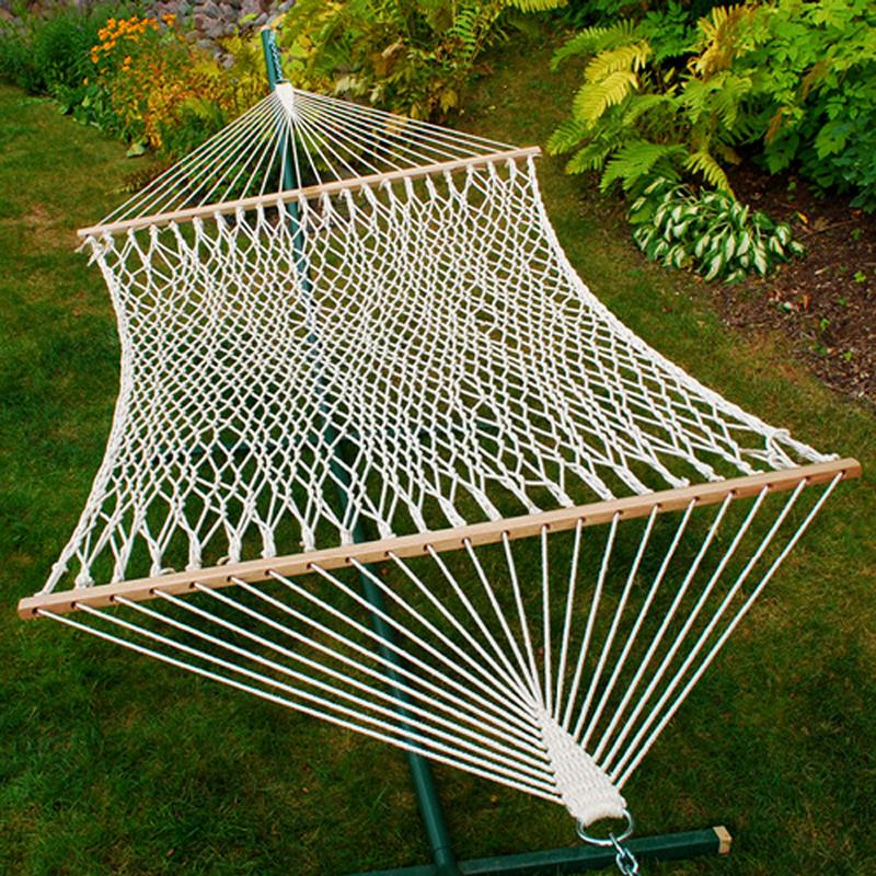 Click here to buy 13' Cotton Rope Hammock by Algoma Net Company.