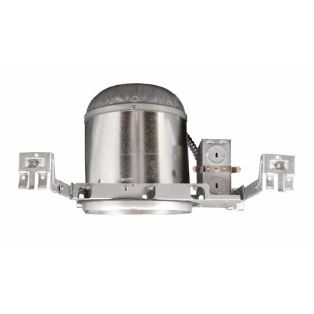 Rated Housing (NICOR Lighting 6-Inch IC Rated Line-Voltage New Construction Housing without Bracket (17002ANB) )