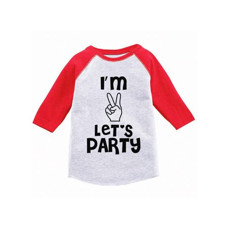 Awkward Styles Toddler Second Birthday Raglan Shirt 2nd Baseball Tee Two Years Old