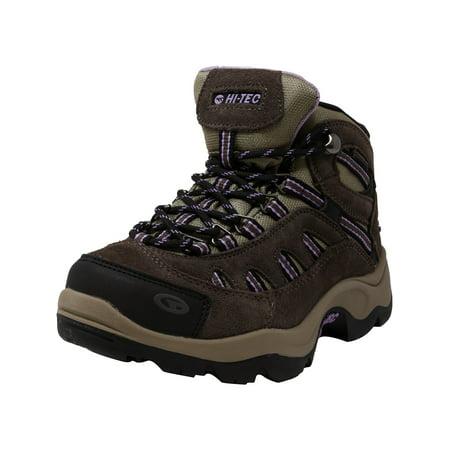 e64b566670a Hi-Tec Women's Bandera Mid Waterproof Dark Taupe / Charcoal Viola Mid-Top  Suede Hiking Boot - 6.5M