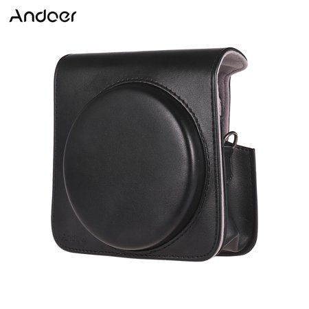 Andoer Protective Case PU Leather Bag with Adjustable Strap for Fujifilm Instax Square SQ6 Instant Film Camera