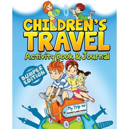 Childrens Travel Activity Book   Journal  My Trip To Disneyland Paris