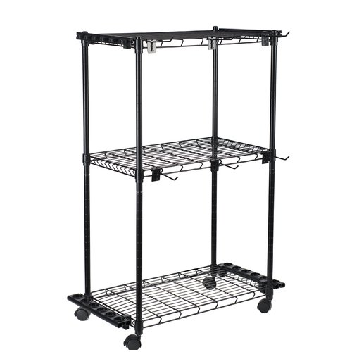 Organized Fishing 3 Adjustable Shelves Tackle Trolley
