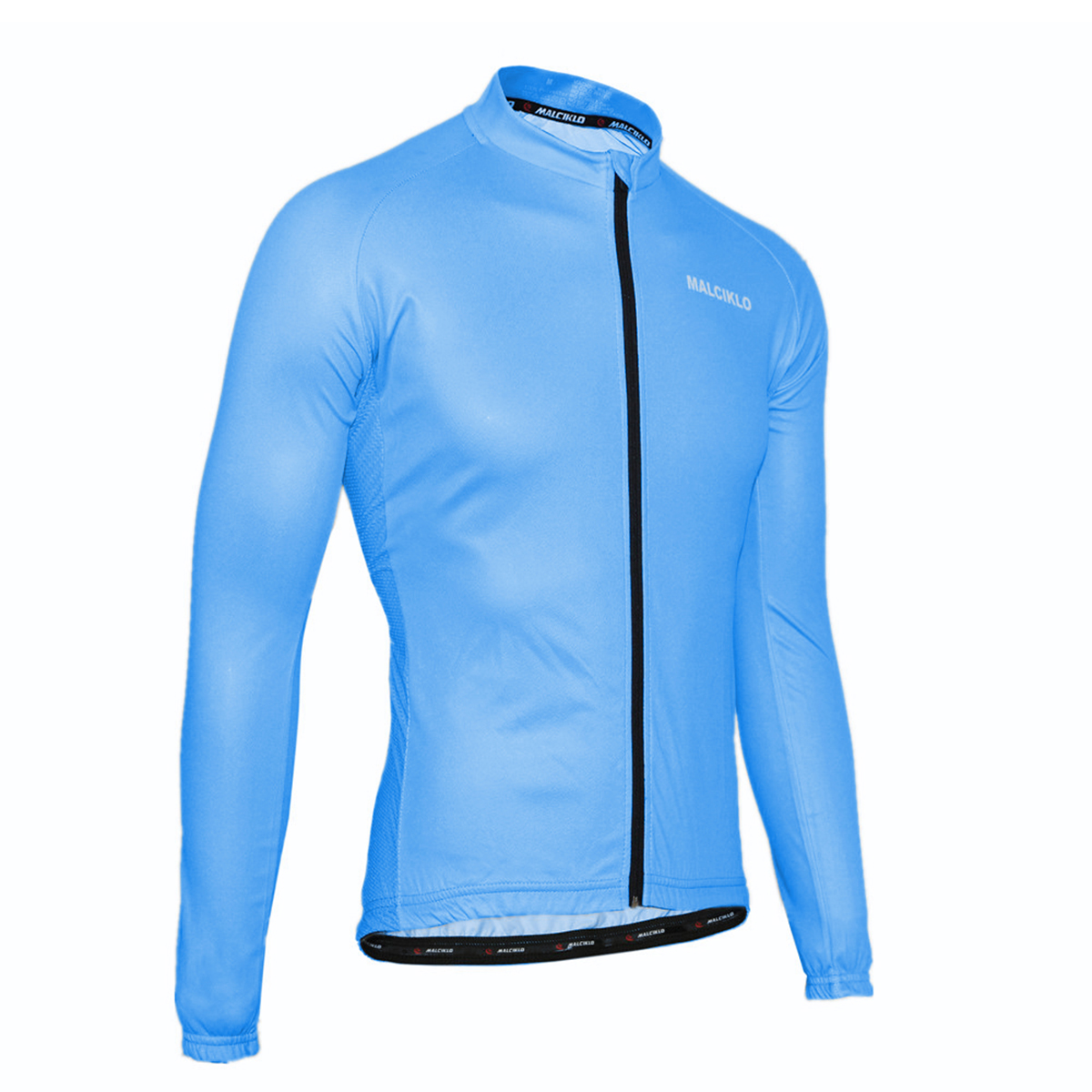 Mens Long Sleeve Cycling Jersey Breathable Jacket Tops Bike Bicycle Red