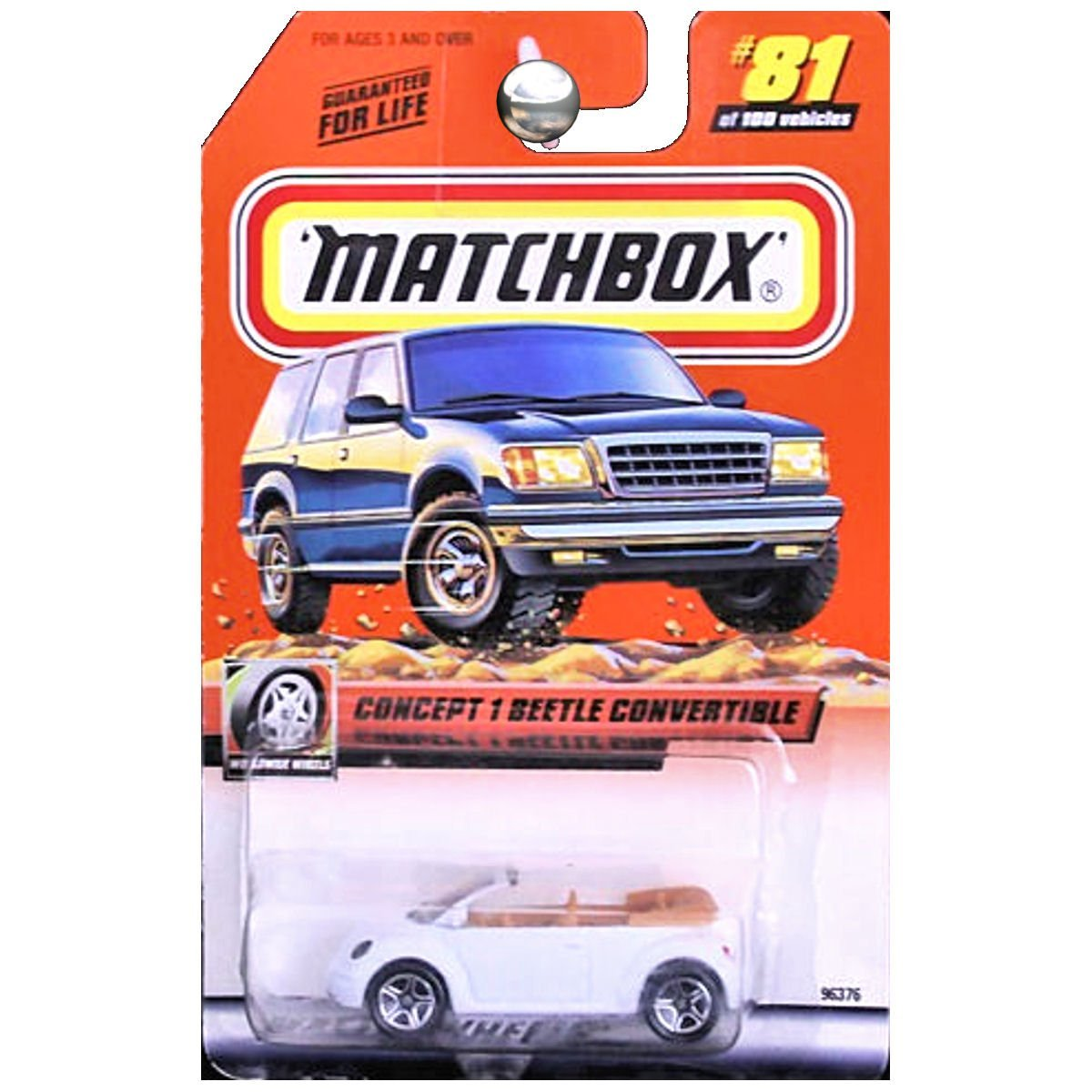1999-81 of 100 Concept 1 Beetle Convertible Worldwide Wheels 1:64 Scale, By Matchbox by