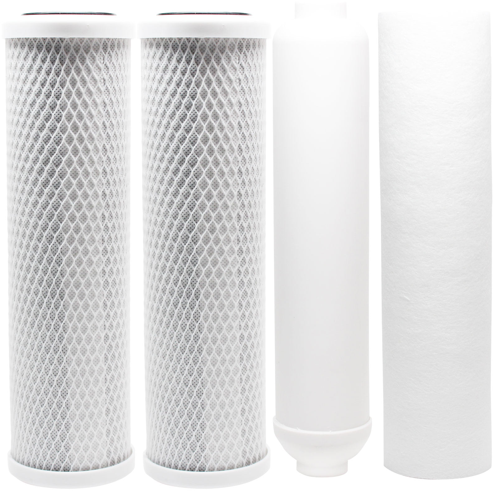 Denali Pure Brand Universal 10 inch Filter Compatible with iSpring 123Filter Portable Clear Single-Stage Countertop System #CKC1C 7-Pack Replacement for iSpring CKC1C Activated Carbon Block Filter