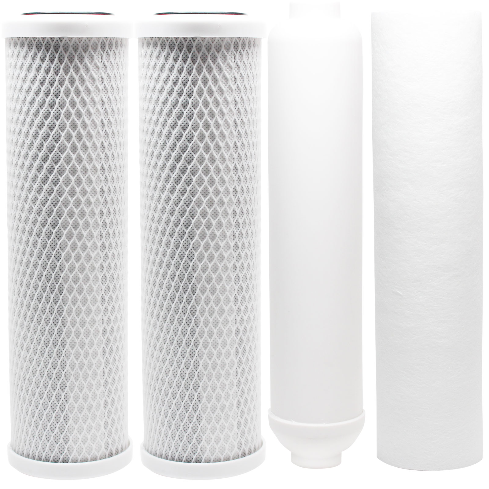 Replacement Filter Kit for Proline Proline Gold RO System - Includes Carbon Block Filters, PP Sediment Filter & Inline Filter Cartridge - Denali Pure Brand