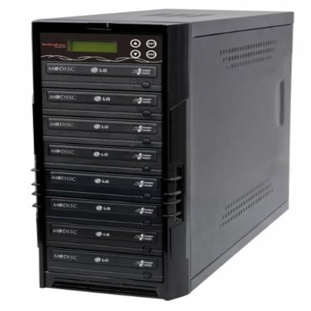 Bestduplicator BD-LG-7T 7 Target 24x SATA DVD Duplicator with Built-In LG Burner (1 to