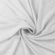 White Rayon Jersey Stretch Knit Fabric - Medium Weight/ 180 GSM by the Yard - 1 Yard Style 409
