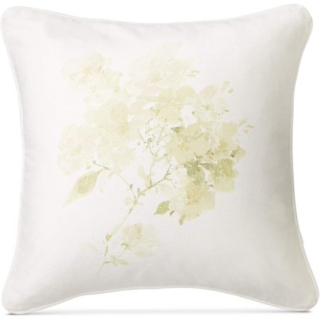 Ralph Lauren Lakeview Textured Floral-Print 18 Inch Square Throw Decorative Pillow, Cream/Multi - image 1 of 1