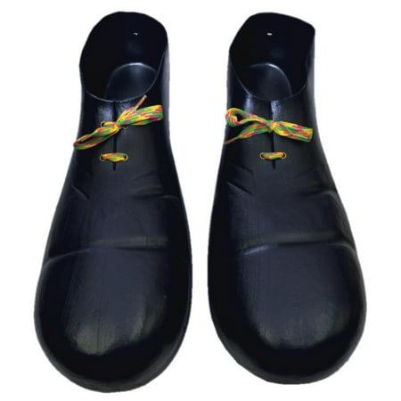 "15"" Huge Black Plastic Clown Shoes Big Jumbo Parade Party Costume Accessory Prop - image 1 de 1"
