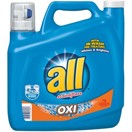 all Liquid Laundry Detergent with OXI Stain Removers and Whiteners, 141 Ounce, 79 Loads