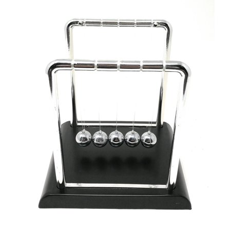 Half Price Toy - THY COLLECTIBLES Newtons Cradle Balance Balls 5 1/2 inch Desk Top Decoration Kinetic Motion Toy For Home And Office (Large 7.25