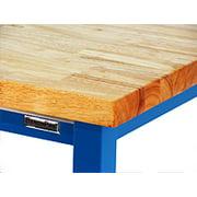 "BenchPro KW2448 Kennedy Heavy Duty Steel Garage Work Bench with Butcher Block Wood Top, 6600 lbs Capacity, 48"" Width x 30"" Height x 24"" Depth"