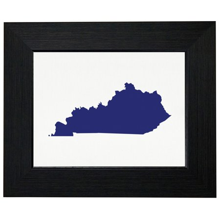 Kentucky Blue Democratic - Election Silhouette Framed Print Poster Wall or Desk Mount Options ()