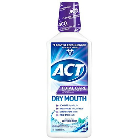 Act Total Care Dry Mouth Anticavity Mouthwash  Soothing Mint 18 Oz  Pack Of 2
