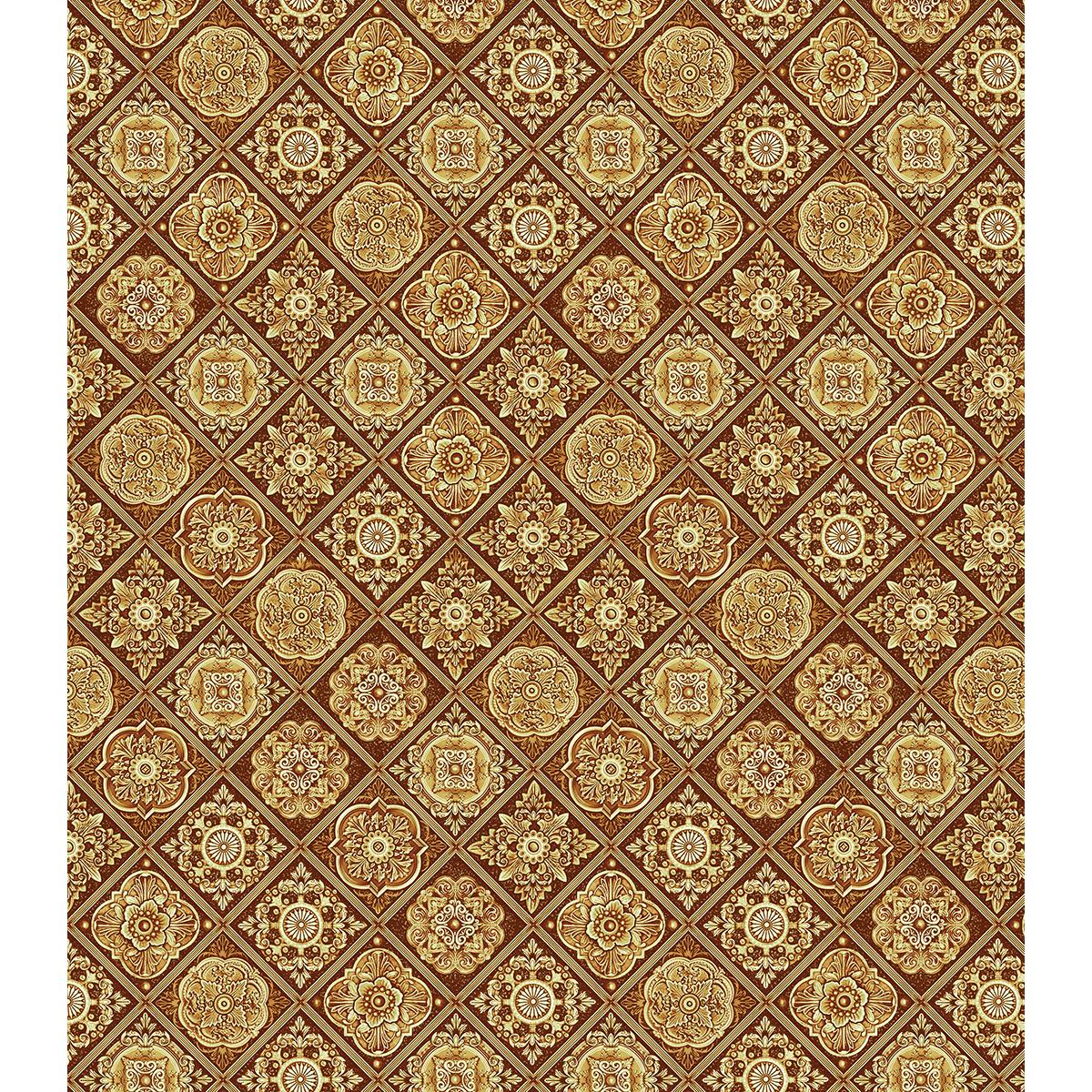 "Craft Consortium Decoupage Papers 13.75""X15.75"" 3/Pkg-Golden Tiles"