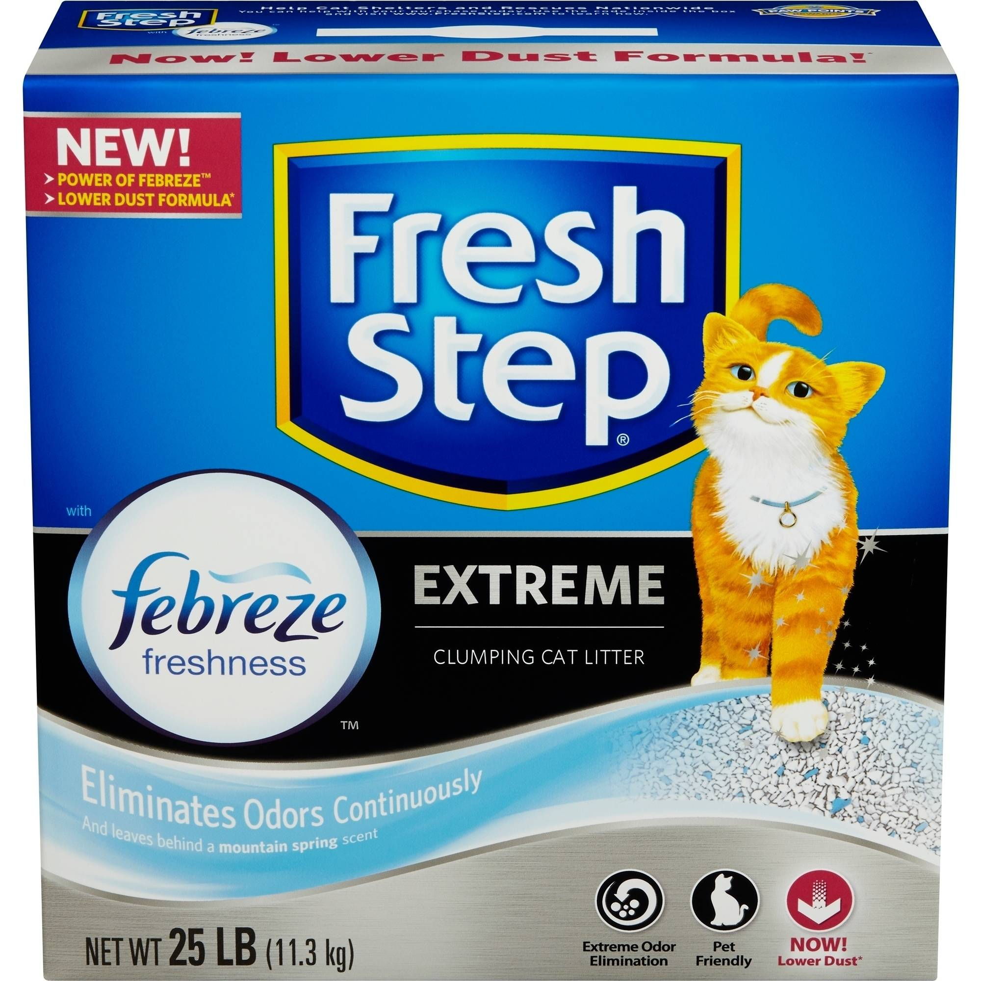 Fresh Step Extreme Odor Control Scoopable Cat Litter, 25 Pounds