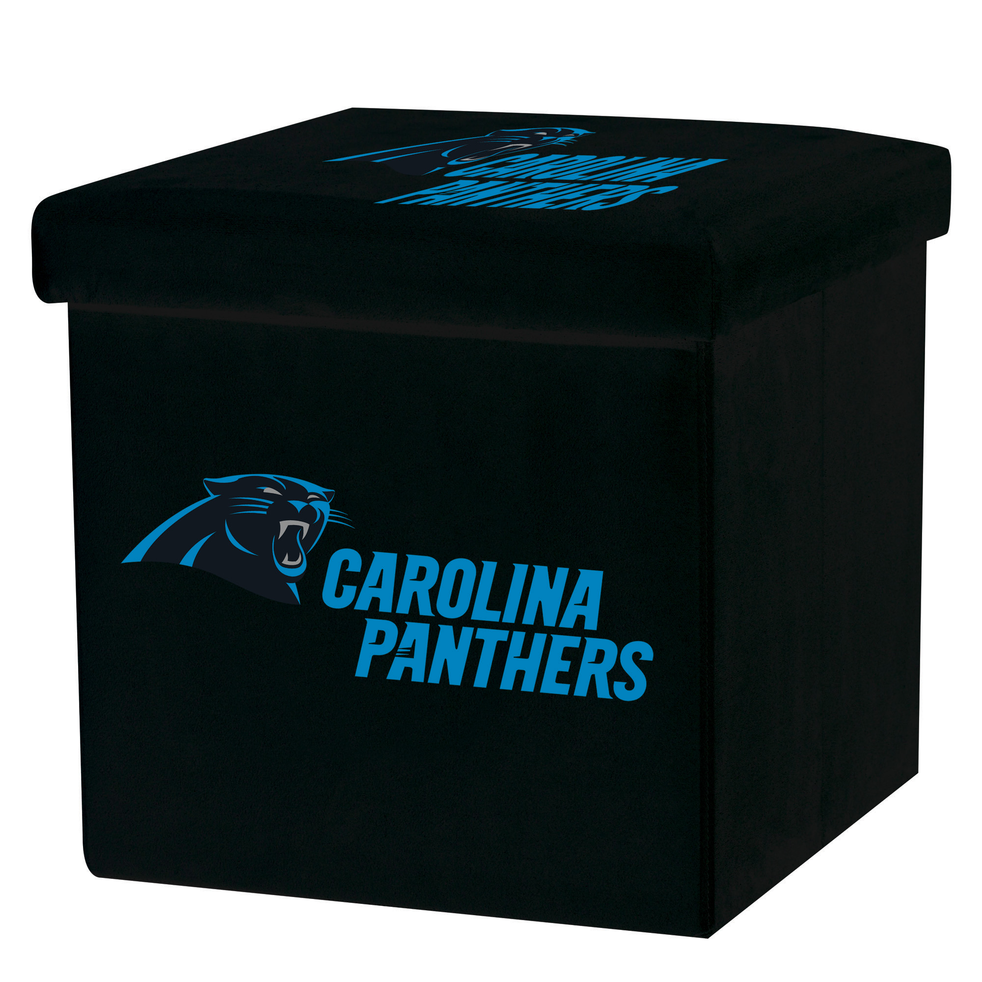 Franklin Sports NFL Carolina Panthers Storage Ottoman with Detachable Lid