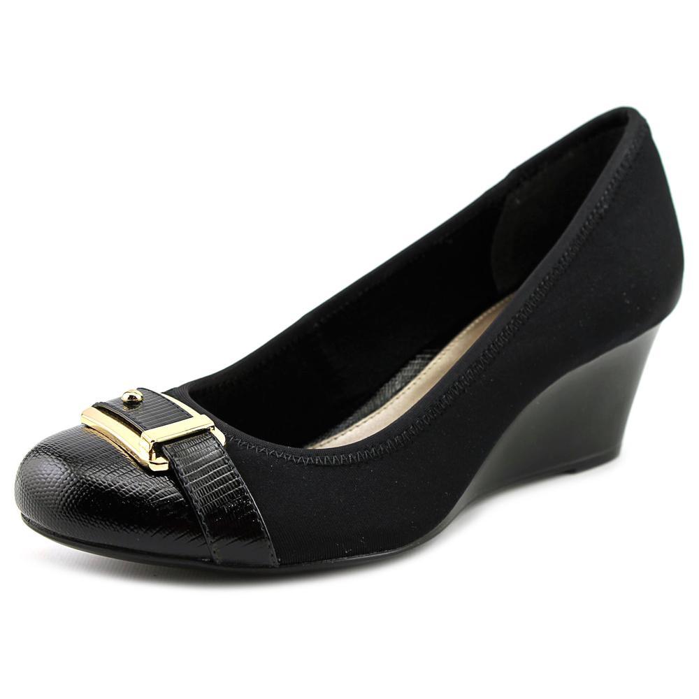 Alfani Tomina   Open Toe Canvas  Wedge Heel