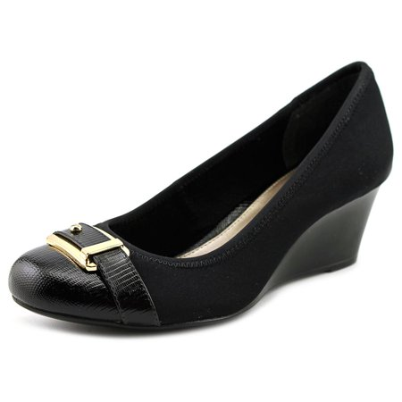 - Alfani Tomina   Open Toe Canvas  Wedge Heel