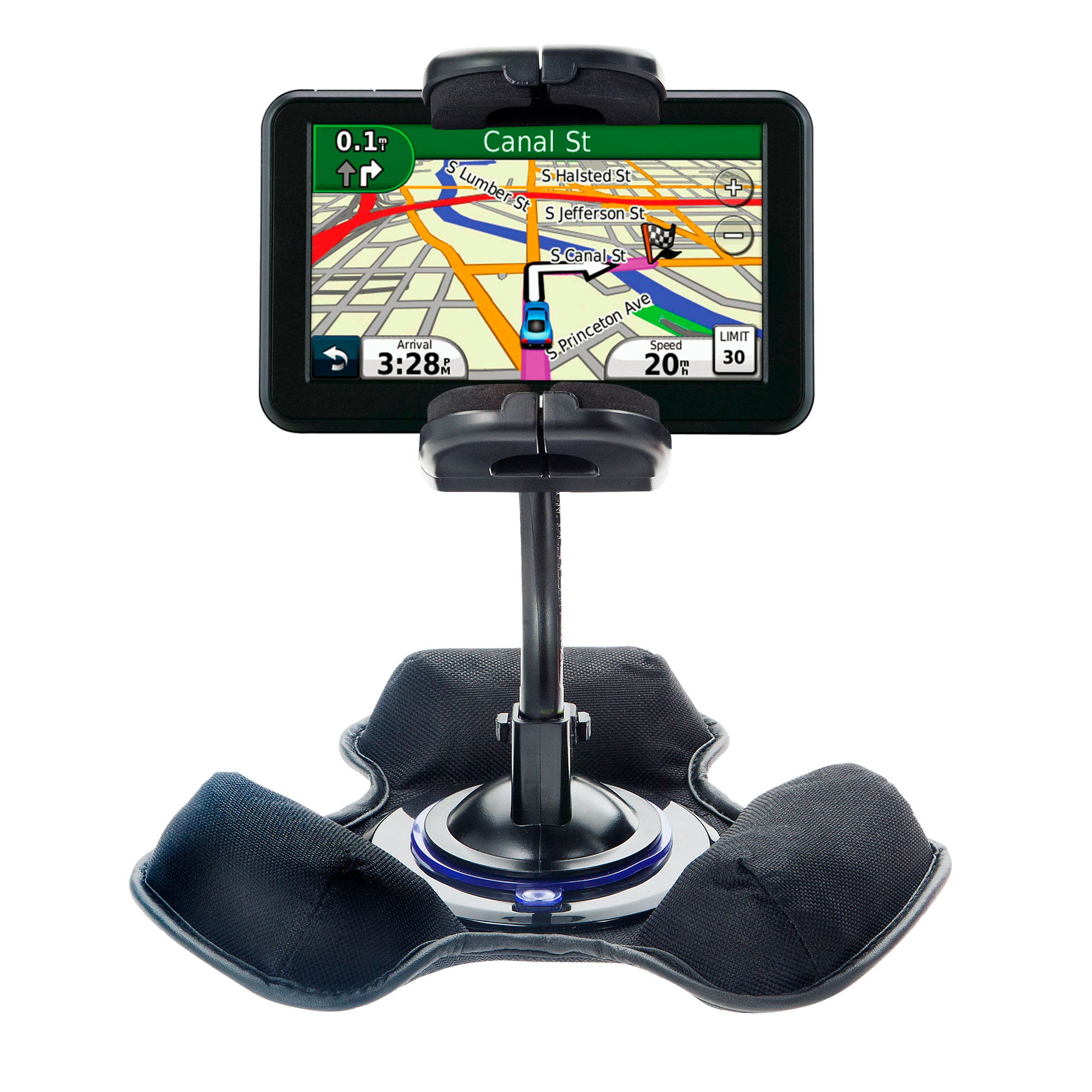 Car / Truck Vehicle Holder Mounting System for Garmin Nuvi 50 50LM Includes Unique Flexible Windshield Suction and Universal Dashboard Mount Options